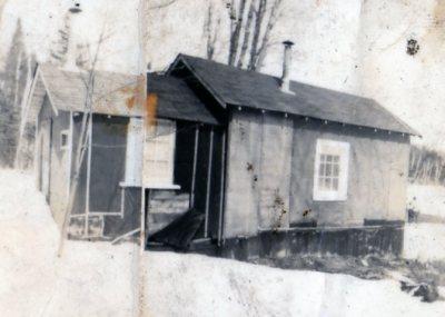 Original Ernie Fee Cabin in the Winter